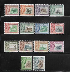 NORTH BORNEO, 280-293, MNH, 1961 ISSUE