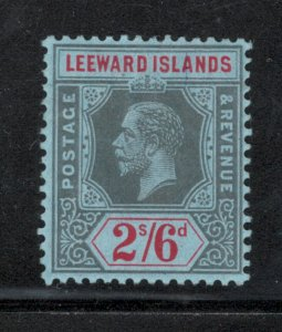 Leeward Islands 1914 King George V 2sh 6p Scott # 56 MH