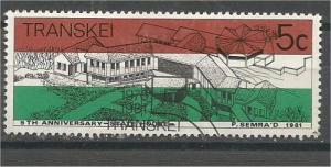 TRANSKEI, 1981, CTO 5c, Independence. Scott 91