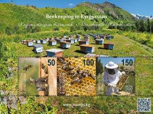 KYRGYZSTAN (KEP) / 2019 - (Mini Sheet) BEEKEEPING (BEES), MNH