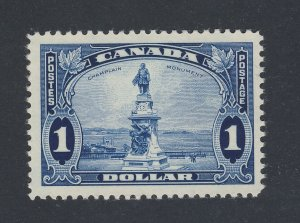 Canada $1.00 Stamp #227-$1.00 Champlain Monument MH VF.  Guide Value = $80.00