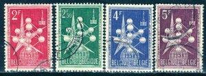 Belgium; 1957-58: Sc. # 500/503: O/Used Cpl Set