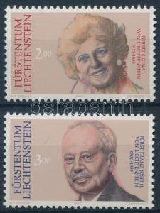 Liechtenstein stamp Prince Franz Josef II&Princess Ginas death set MNH WS231541