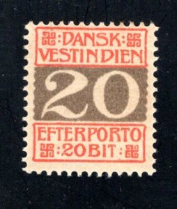 Danish West Indies #J6,  F/VF,  Mint Unused, CV $7.50 ....1630054