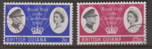 British Guiana Sc#299-300 Used
