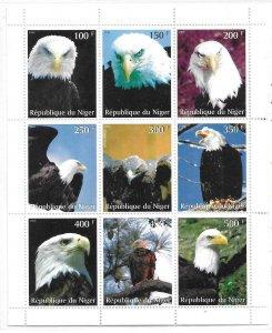 1999    NIGER  -  BIRDS - WHITE FACED EAGLE   -  MNH