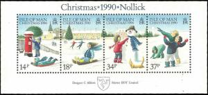 Isle of Man #439a MNH S/S CV$3.75 Christmas Nollick Snowman Weihnachten Noel