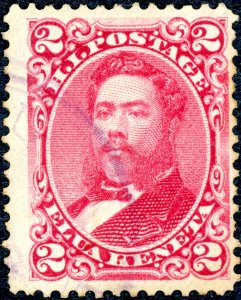 US 38 – 1882 2c Hawaii, lilac rose, perf 12, wove paper Used Fine