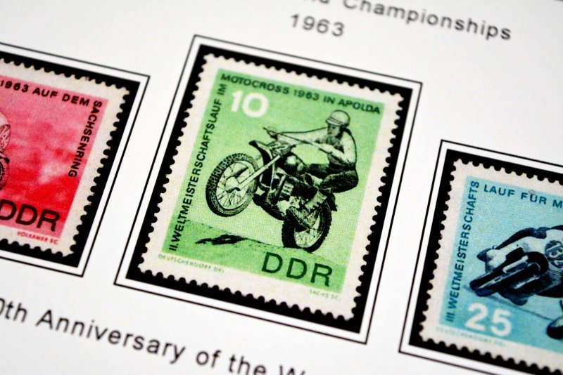 COLOR PRINTED EAST GERMANY DDR/GDR 1949-1990 STAMP ALBUM PAGES (334 ill. pages)