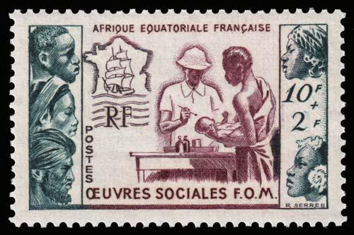 French Equatorial Africa - Scott B39 - Mint-Never-Hinged