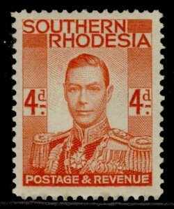 SOUTHERN RHODESIA GVI SG43, 4d red-orange, M MINT.