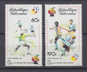 J29550,1981 gabon set mnh #c243-4 sports