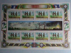 LESOTHO-1982-SC# 358  75TH ANNIVERSARY-SCOUTING DAY-MNH SHEET-VERY FINE