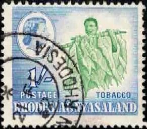 Tobacco, Rhodesia & Nyasaland stamp SC#165 used
