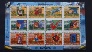 50th anniversary of EUROPA stamps - Mozambique - compl set of 12 in sheet ** MNH