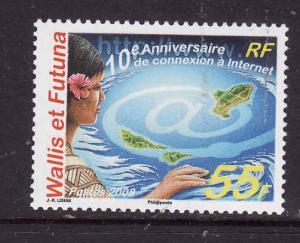 Wallis & Futuna-Sc#647-unused NH set-Connection to the Internet-2008-