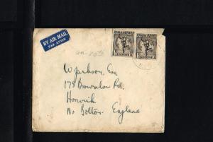 Australia Cover Mi. 2x185 - To Harwich [B06_135]