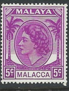 Malaya-Malacca # 32 Queen Elizabeth, 5c   (1) Mint NH