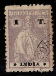 Portuguese India Scott 367 Used Ceres perf 12x11.5 variety perf tips toned