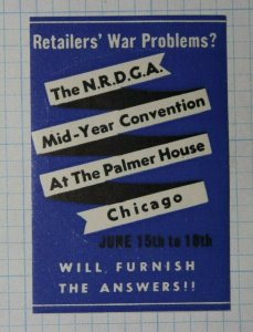 NRDGA Mid Year Conventon Palmer House Chicago Company Brand Ad Poster Stamp