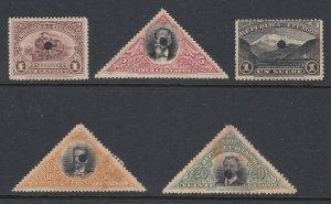 Ecuador 1908 Waterlow File Copy Proof Part Set w. Punch Hole. Scott 174-180 var