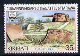 Kiribati 1983 Battle of Tarawa 35c with wmk reading upwar...