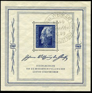 Allied Occupation  Mi.# Block 6   MNH** with Special Cancel