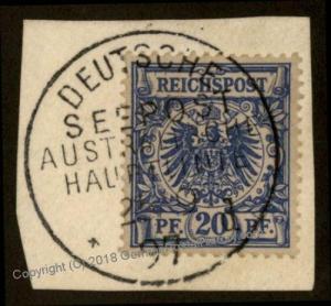 Germany 1897 Australia Deutsche Seepost Australische Hauptlinie d Cancel 77899