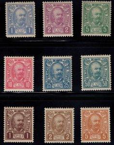 Montenegro Scott 57-65 MH* complete 1902 Prince Nicholas set
