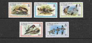 BIRDS - TURKS & CAICOS  #425-429  MNH