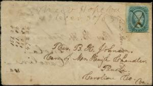CSA #1 & #11 ON TURNED COVER - USED - CV $500.00 BP7028