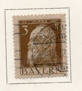 Bayern Bavaria 1912 Early Issue Fine Used 3pf. NW-120690