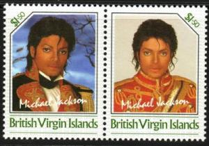VIRGIN ISLANDS Unissued$1.50 Michael Jackson se-tenant pair