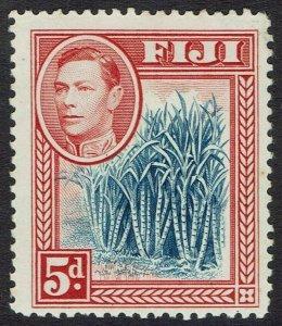 FIJI 1938 KGVI BLUE SUGER CANES 5D MNH **