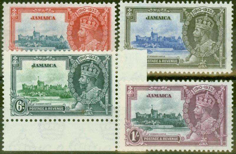 Jamaica 1935 Jubilee set of 4 SG114-117 Fine Lightly Mtd Mint