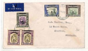 V118 1948 North Borneo Victoria Labuan Island GB Aberdeen Scotland Cover PTS