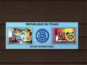 Chad 1996 ROTARY INTERNATIONAL Sheet Perforated Mint (NH)