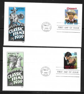 USA 2445-8 Classic Films Artmaster First Day Cover FDC (z11)