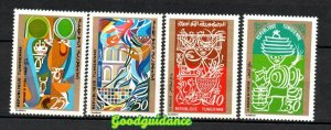 1971- Tunisia- Scenes from Tunisian Everyday Life- Complete set 4vMNH**