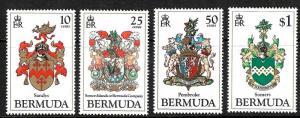 BERMUDA 1983 COAT OF ARMS     SET 4  MNH
