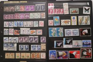 US High Denomination stamp lot used 50c $1 $2 $5 $10.75 Priority Express pairs