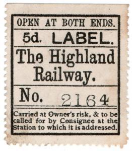 (I.B) The Highland Railway : Newspaper Parcel 5d