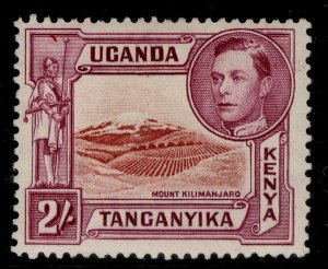 KENYA UGANDA TANGANYIKA GVI SG146b, 2s lake-brown/brown purple, M MINT. Cat £50.