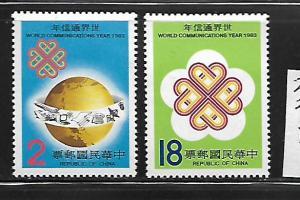 CHINA, 2371-2372, MINT NEVER HINGED, WORLD COMMUNICATION YEAR