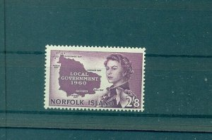 Norfolk Is. - Sc# 42. 1960 Local Government. MNH. $19.00.