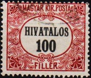 Hungary. 1921 100f S.G.O431 Fine Used