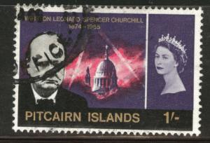 Pitcairn Islands Scott 59 Churchill 1sh stamp  CV$4.75