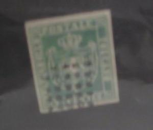 ITALY TUSCANY STAMP #18 cat.$260.00 BUT A 19th CENTURY PRIVATE REPRINT