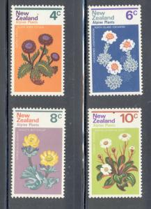New Zealand Sc 500-3 1972 Alpine Plants stamp set mint NH