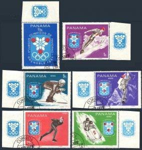 Panama 484-484E,CTO.Mi 1046-1051. Olympics Grenoble-1968.